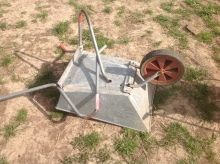 broken wheel barrow