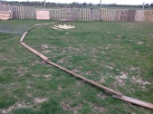 50 foot round pen out of pallets